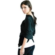 The Chrysalis Cardi {Black} from Encircled.ca - wear a bunch of different ways. Great for travel. $106. Made in Canada.
