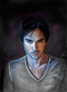 Damon Salvatore by Hir0e.deviantart.com on @DeviantArt