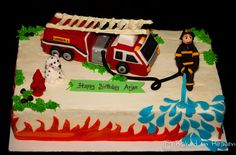 fire truck cakes pictures | Fire truck cake | Baked In Heaven
