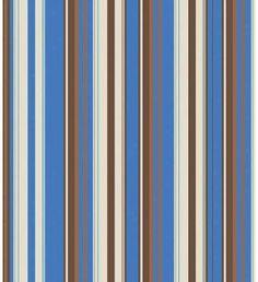 Papel de parede com listras em tons de marrom, azul, branco e bege - Listrado 130