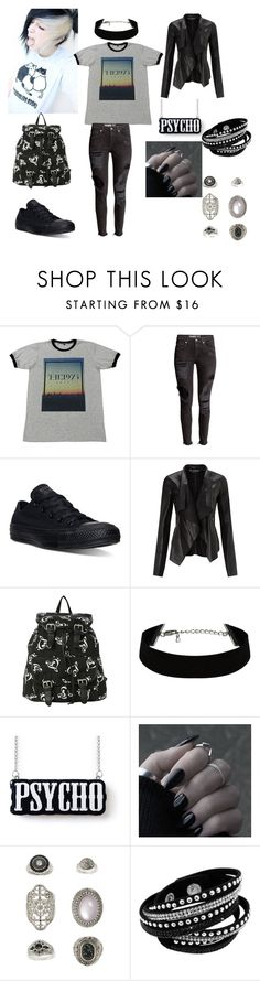 """""""Days"""" by alexis-kitten on Polyvore featuring Converse, Miss Selfridge, Topshop, women's clothing, women, female, woman, misses and juniors"""