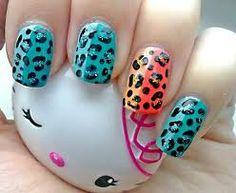 nail art - panter print