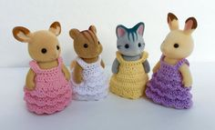 PDF Crochet Pattern for Fancy Dress for Momma Critter