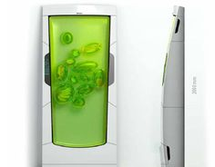 Zero-Energy Bio Refrigerator Cools Your Food With Future Gel. Russian designer Yuriy Dmitriev has unveiled a fresh-looking, gel-filled appliance of the future. His Bio Robot Refrigerator utilizes a special gel-like substance that suspends and cools food once inserted.