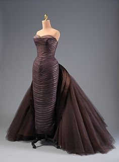 """""""Butterfly"""" Charles James  Date: ca. 1955 Culture: American Medium: silk, synthetic, metal Accession Number: 2013.591"""