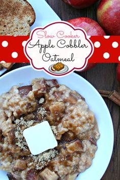 Slow Cooker Apple Cobbler Oatmeal
