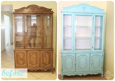 Hutch for dining room ~ so much prettier painted !!!