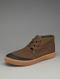 Generic Surplus Canvas and Rubber Mid Top Sneakers.