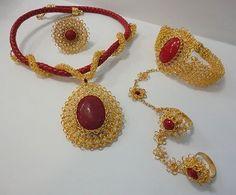 Alambre para bisutería Eslabones para bisutería de alambre Bisutería de alambre tejida a ganchillo Hermosísimas joyas realizadas con un ...