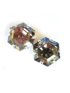 Twilight Rare Hexagon Swarovski Crystal Earrings by BreatheCouture, $25.00