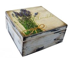 decoupage - boxes-pudełko LAVENDULA