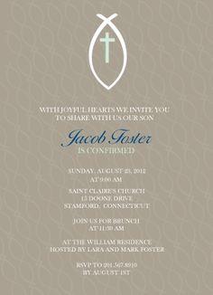 Confirmation Invitation - Ichthus Echo