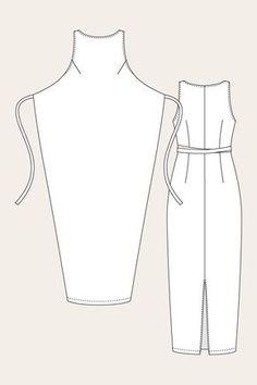 58 Ideas Dress Wrap Pattern Free Sewing For 2019 Dress Sewing Patterns, Sewing Patterns Free, Clothing Patterns, Free Sewing, Sewing Ideas, Knitting Patterns, Sewing Projects, Sewing Clothes, Diy Clothes