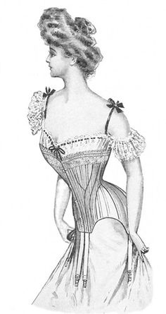 1903 corset pattern from Truly Victorian. Corsets are it for Edwardian dresses! Got fitting issues but easy to use. kinda freaky in the breast Corset Vintage, Lingerie Vintage, Victorian Corset, Victorian Women, Edwardian Era, Edwardian Fashion, Vintage Fashion, Victorian Era, Motif Corset