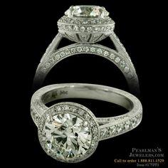 Beverley K Platinum diamond halo engagement ring