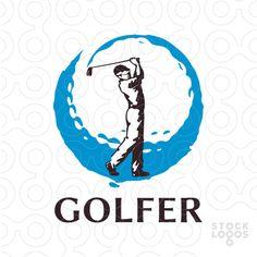 https://stocklogos.com/logo/golfer golf player logo for sale