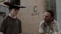 chandler riggs walking dead photos | Andrew Lincoln Chandler Riggs The Walking Dead Killer Within
