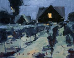 Daniel Aldana. Late Night Vines. Oil on linen 8 x 10