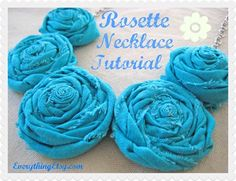 Rosette Necklace Tutorial – DIY Gifts @Everything Etsy --> i need to make one of these! so cute! Must try! @ecrafty #ecrafty #diynecklaces #jewelrysupplies #neckcords