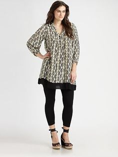 Tolani, Salon Z Paisley Silk Tunic/Dress $158