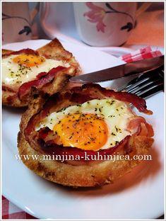 Jaje u tostu | Minjina Kuhinjica