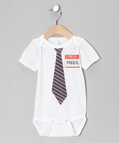 Take a look at this White New Guy Personalized Bodysuit - Infant by Simply Sublime on #zulily today!