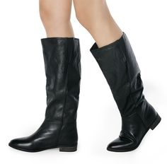 Black Flat Boots.