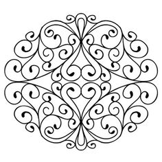 Sue Wilson Designs - Cling Mounted Stamp - Wrought Iron Swirls
