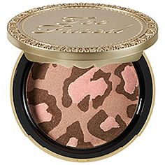 Too Faced - Pink Leopard Blushing Bronzer in Pink Leopard - bronze with golden pink shimmer  #sephora