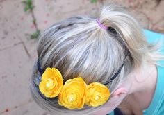 Take the Cannoli: Spring DIY flower headband tutorial