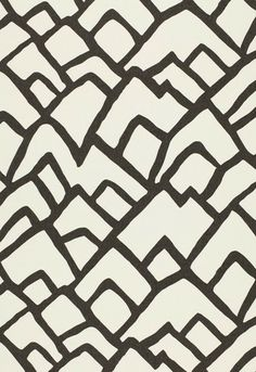 Ivory White and black mountain pattern design