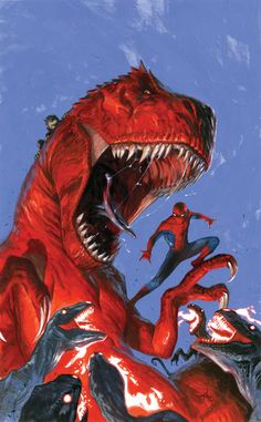 Never thought I'd see this match up. Avenging Spider-Man #15 by Gabriele Dell'Otto.