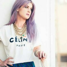 Kelly Osbourne's light purple hair.