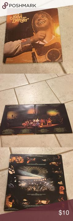 John Denver Vinyl Record An Evening With John Denver. Sleeve is in good condition. Minor wear. No tearing. Gatefold and double LP. Both records have a couple of scratches. They do not effect play. Plays and sounds good. No skips. Other