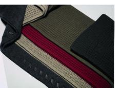 Hermès Fall-Winter 2014. Scarf in cashmere knit, sable and leather, scarves in cashmere knit and sable #hermes #menswear #fashion #hermeshomme