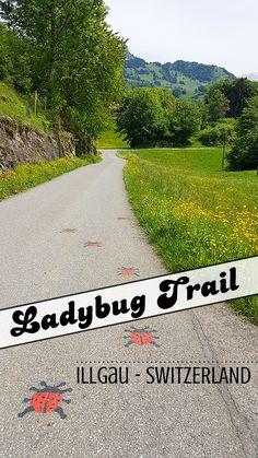 Hiking with kids. Ladybug Trail in Illgau. Switzerland Cities, Visit Switzerland, European Road Trip, Hiking With Kids, Play Areas, Lake Geneva, Backpacking Europe, Picnic Area, Strollers