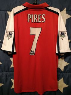 4bc92c388ba ARSENAL ENGLAND 2000-2002 HOME FOOTBALL SHIRT JERSEY PIRES  7 SIZE L ADULT (