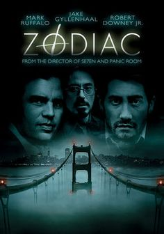 "Zodiac -- ""Based on events in the 1960s and '70s, this chilling drama recounts the actions of a killer who stalked the streets of San Francisco and left clues in the newspaper, relating the mystery through a cartoonist who became obsessed with the case."""