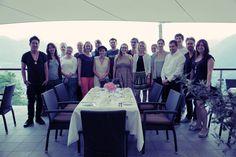 Blogger-Team von #meetmerano im Restaurant Culinaria im Farmerkreuz in Dorf Tirol