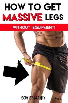 How to get MASSIVE legs with only your bodyweight! #Bodybuilding #muscle #Calisthenics #Bodyweight #physique #muscle #growth #quads Bodyweight Training Program, Massive Legs, Big Legs, Fast Fat Burning Workout, Big Muscle Training, Power Training, Training Tips, Workout Plan For Men, Workout Plans