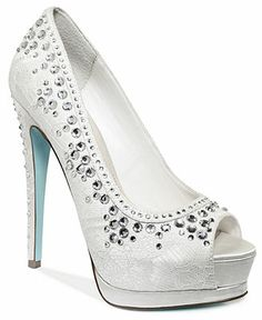 Blue by Betsey Johnson Vow Platform Evening Pumps These would look nice with a wedding dress!