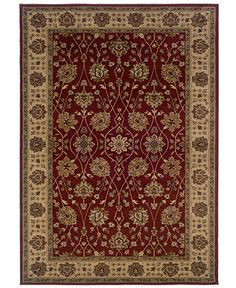 """MANUFACTURER'S CLOSEOUT! Sphinx Area Rug, Tribecca 73T Red 7'10"""" x 10' - Rugs - Macy's"""