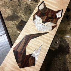 Wish you an happy weekend with this Fox inlay, made with rosewood , cocobolo and mother of pearl. #fox #inlay #overloadguitars…