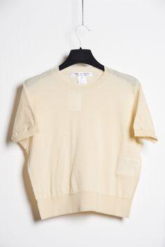 Comme des Garcons by Comme des Garcons Knit Top Off White | Nen Xavier