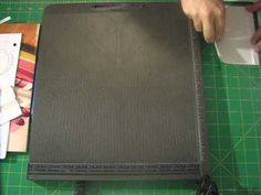 Kathy Orta's envelope mini album with a chipbord spine tutorial 2