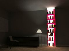 9 Abstract Bookshelves to Add Flair to Your Library! 2 - https://www.facebook.com/different.solutions.page