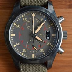 Pilot's Watch Chronograph Top Gun Miramar by IWC - $12700. I just posted this in case you had an extra $13,000 in your pocket. ;  0 )