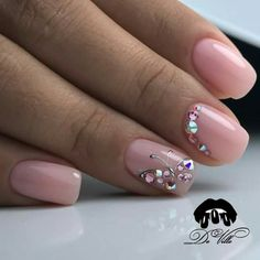 Nail art Christmas - the festive spirit on the nails. Over 70 creative ideas and tutorials - My Nails Pretty Nail Designs, Toe Nail Designs, Pedicure Designs, Art Designs, Rhinestone Nails, Bling Nails, Gem Nails, Hair And Nails, Manicure Simple