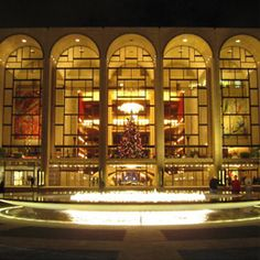 The Metropolitan Opera -- This is a definite Bucket List item for me!!