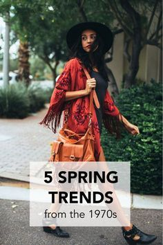 Styles from the 1970s are hot this spring. Fringe, fringe, and more fringe! Incorporate fringe into your wardrobe with a fun backpack, handbag, kimono, or jacket. Just be sure to wear it in moderation. Tie dye is another big spring trend. When choosing a tie dye bathing suit or skirt, opt for a pattern that only uses two colors, not the full rainbow. It comes across more sophisticated when it features muted colors. Read on as eBay highlights 5 spring trends from the 1970s.